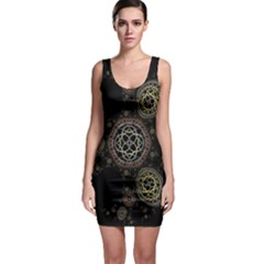 Background Pattern Symmetry Bodycon Dress