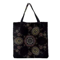 Background Pattern Symmetry Grocery Tote Bag