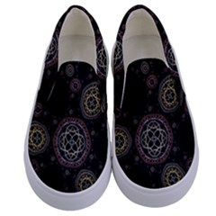 Background Pattern Symmetry Kids  Canvas Slip Ons