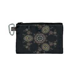 Background Pattern Symmetry Canvas Cosmetic Bag (small)