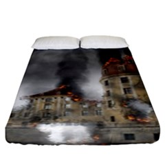 Destruction Apocalypse War Disaster Fitted Sheet (king Size)