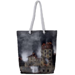 Destruction Apocalypse War Disaster Full Print Rope Handle Tote (small)