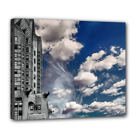 Chrysler Building America New York Deluxe Canvas 24  X 20
