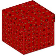 Brown Circle Pattern On Red Storage Stool 12