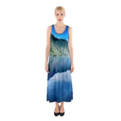 Mountain Water Landscape Nature Sleeveless Maxi Dress