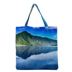 Mountain Water Landscape Nature Grocery Tote Bag