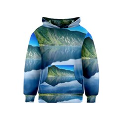 Mountain Water Landscape Nature Kids  Pullover Hoodie
