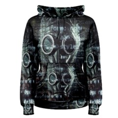 Gas Mask Contamination Contaminated Women s Pullover Hoodie