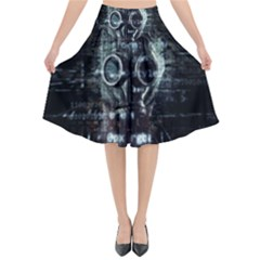 Gas Mask Contamination Contaminated Flared Midi Skirt