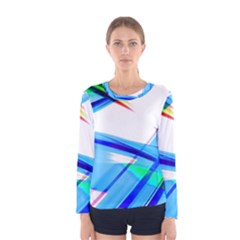 Lines Vibrations Wave Pattern Women s Long Sleeve Tee