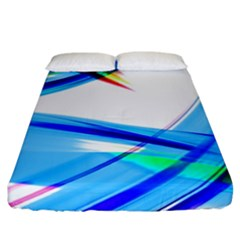 Lines Vibrations Wave Pattern Fitted Sheet (california King Size)