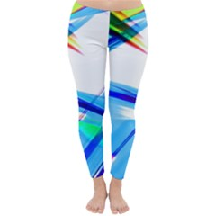 Lines Vibrations Wave Pattern Classic Winter Leggings