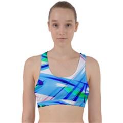 Lines Vibrations Wave Pattern Back Weave Sports Bra