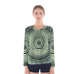 Rune Geometry Sacred Mystic Women s Long Sleeve Tee