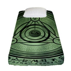Rune Geometry Sacred Mystic Fitted Sheet (single Size)