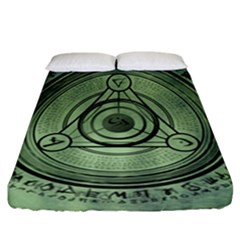 Rune Geometry Sacred Mystic Fitted Sheet (california King Size)