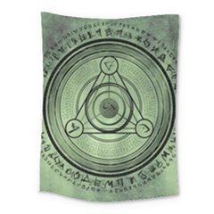 Rune Geometry Sacred Mystic Medium Tapestry