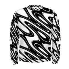 Black And White Wave Abstract Men s Sweatshirt