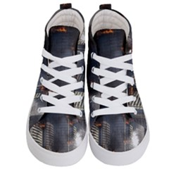 Destruction Apocalypse War Disaster Kid s Hi Top Skate Sneakers