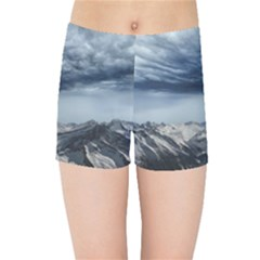 Mountain Landscape Sky Snow Kids Sports Shorts