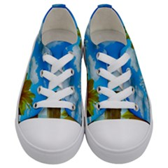 Sunflower Summer Sunny Nature Kids  Low Top Canvas Sneakers