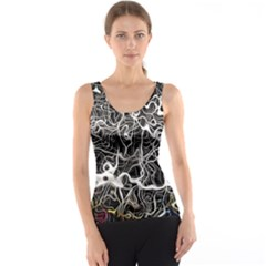 Abstract Pattern Backdrop Texture Tank Top