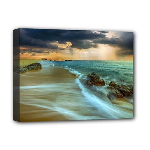 Beach Shore Sand Coast Nature Sea Deluxe Canvas 16  X 12