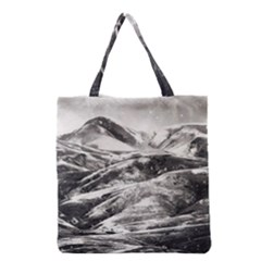 Mountains Winter Landscape Nature Grocery Tote Bag