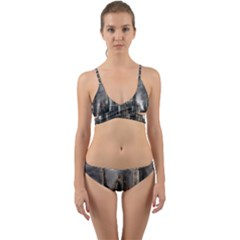 Armageddon Disaster Destruction War Wrap Around Bikini Set