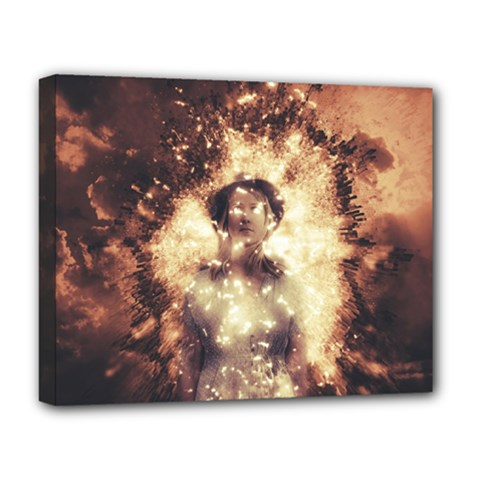 Science Fiction Teleportation Deluxe Canvas 20  X 16