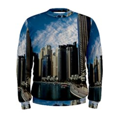 Skyscraper City Architecture Urban Men s Sweatshirt