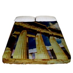 Athens Greece Ancient Architecture Fitted Sheet (california King Size)