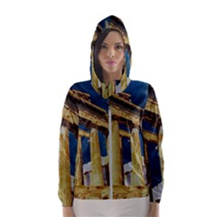 Athens Greece Ancient Architecture Hooded Wind Breaker (women)