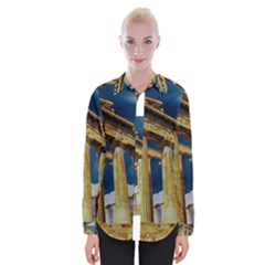Athens Greece Ancient Architecture Womens Long Sleeve Shirt