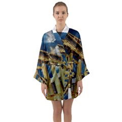 Athens Greece Ancient Architecture Long Sleeve Kimono Robe