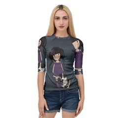 Dolly Girl And Dog Quarter Sleeve Raglan Tee
