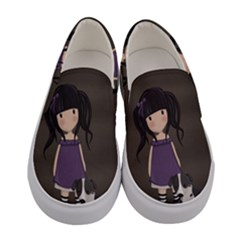 Dolly Girl And Dog Women s Canvas Slip Ons