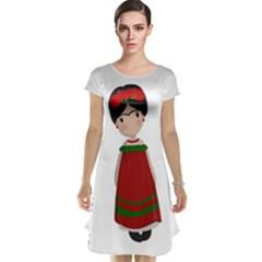 Frida Kahlo Doll Cap Sleeve Nightdress