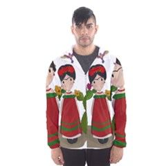 Frida Kahlo Doll Hooded Wind Breaker (men)