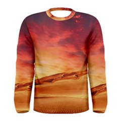 Desert Sand Dune Landscape Nature Men s Long Sleeve Tee
