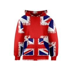 Union Jack London Flag Uk Kids  Pullover Hoodie
