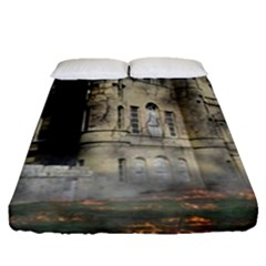 Castle Ruin Attack Destruction Fitted Sheet (queen Size)