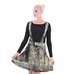 Castle Ruin Attack Destruction Suspender Skater Skirt