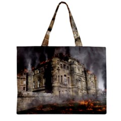 Castle Ruin Attack Destruction Zipper Mini Tote Bag