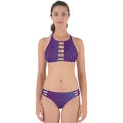 Wave Pattern Background Curves Perfectly Cut Out Bikini Set