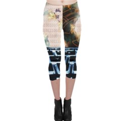 Ransomware Cyber Crime Security Capri Leggings
