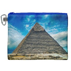 Pyramid Egypt Ancient Giza Canvas Cosmetic Bag (xxl)