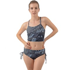 Backdrop Pattern Surface Texture Mini Tank Bikini Set