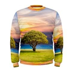 Tree Sea Grass Nature Ocean Men s Sweatshirt