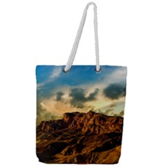Mountain Sky Landscape Nature Full Print Rope Handle Tote (large)